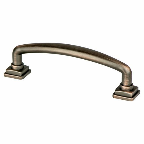 Berenson Tailored Traditional Pull 3-3/4 inch Center to Center Verona Bronze 1279-10VB-P
