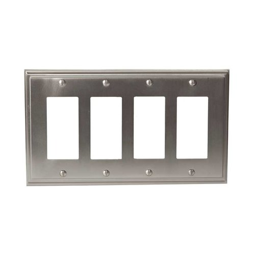 Mulholland Four Rocker Wall Plate Satin Nickel <small>(#BP36521G10)</small>