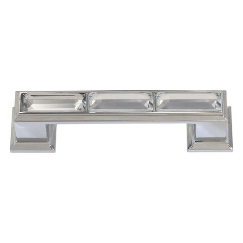 Atlas Homewares Legacy Crystal 3 Inch Center to Center Polished Chrome Cabinet Pull 341-CH
