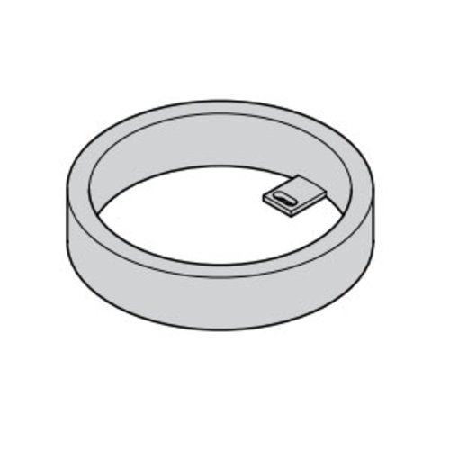 Hafele Loox 24V Surface Mount Ring - Silver 833.77.710
