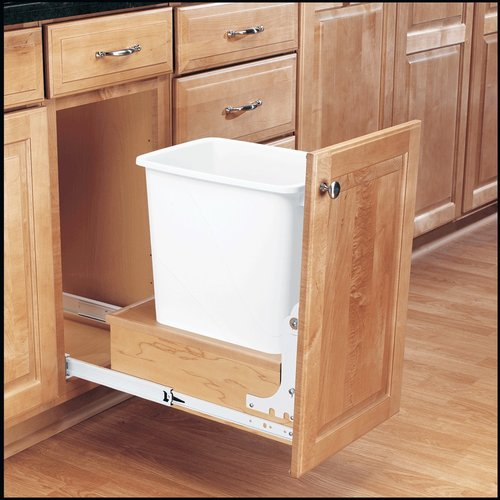 Rev-A-Shelf Single Trash Pullout 35 Quart-Wood 4WC-15DM1
