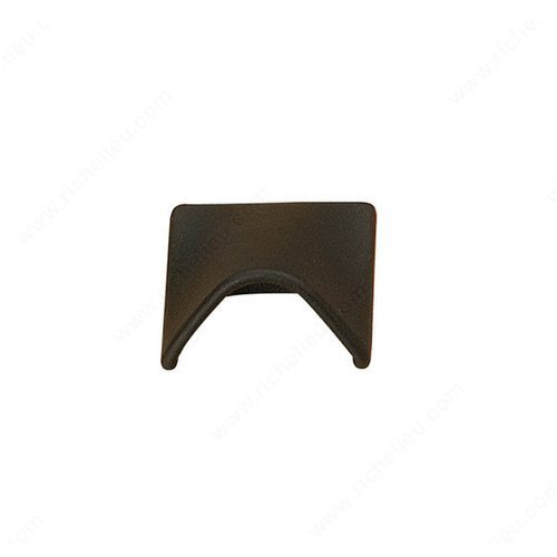 Richelieu Wood & Leather 5/8 Inch Center to Center Black Cabinet Pull 217001690