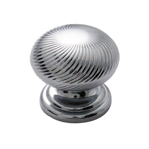 """Hickory Hardware Carbonite Knob 1-1/4"""" Dia Chrome P3609-CH"""