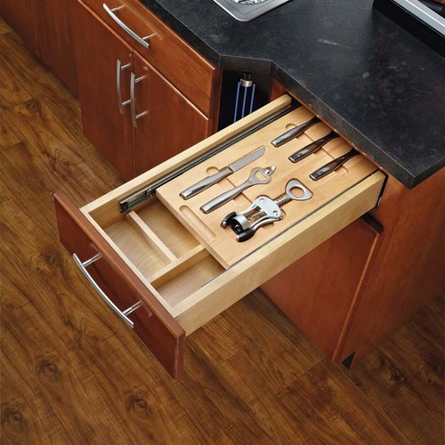 "Rev-A-Shelf Cutlery Drawer for 15"" Cabinets W/ Bar Accessories 4WTBD-15-SC-1"