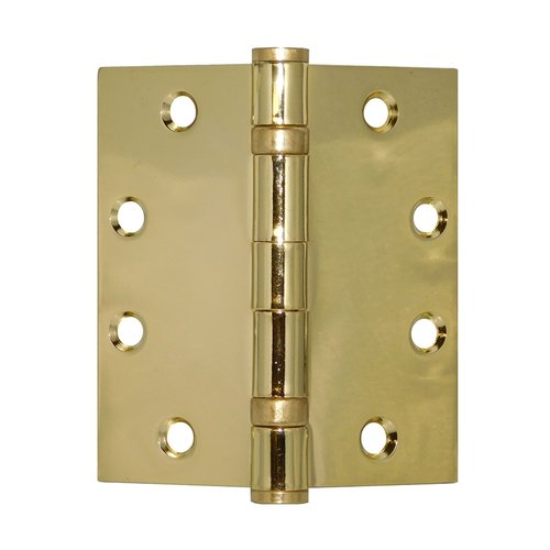 Don-Jo Full Mort. Ball Bearing Hinge 4-1/2 inch x 4-1/2 inch Bright Brass BB74545-632