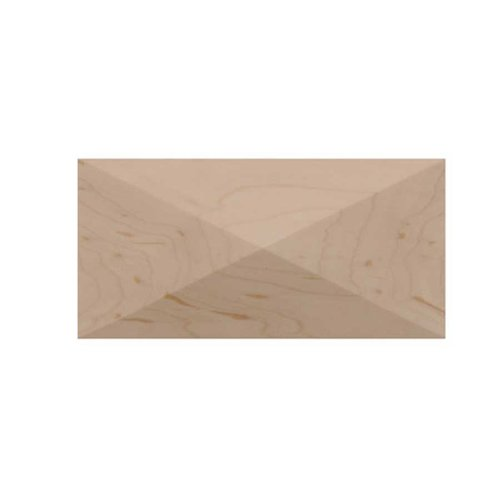 Brown Wood Small Apex Tile Unfinished Hard Maple 01901017HM1