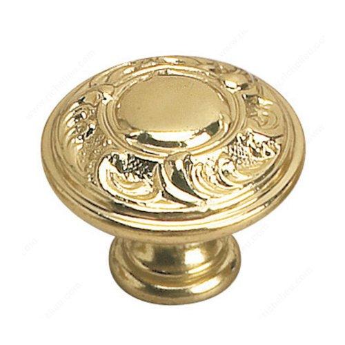 Richelieu Louis XV 1-3/8 Inch Diameter Brass Cabinet Knob 2440135130