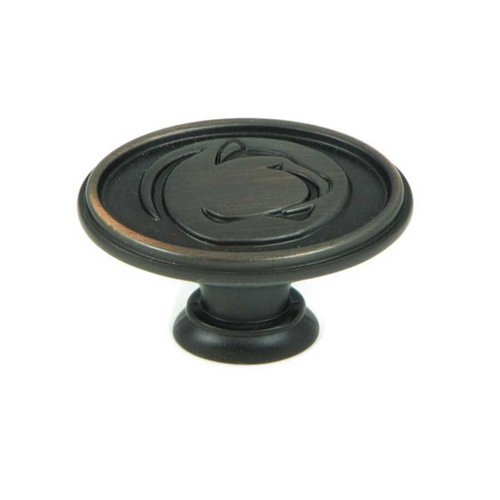 Collegiate 1-1/2 Inch Diameter Oil Rubbed Bronze Cabinet Knob <small>(#CL81097-OB-PSU)</small>