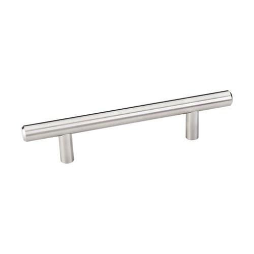 Naples 3-3/4 Inch Center to Center Satin Nickel Cabinet Pull <small>(#156SN)</small>