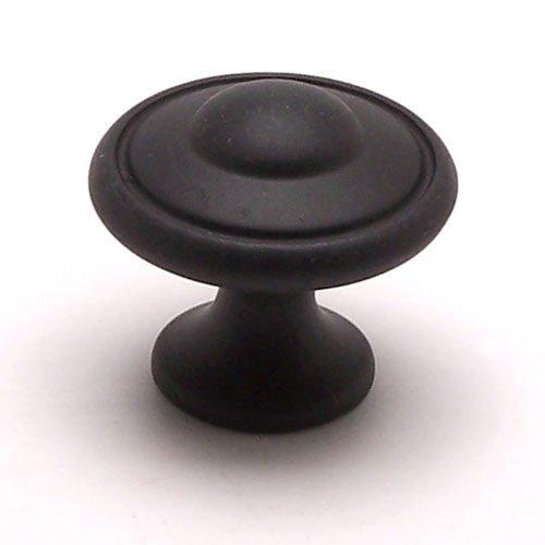 Berenson Euro Traditions 1-3/16 Inch Diameter Matte Black Cabinet Knob 2927-155-P
