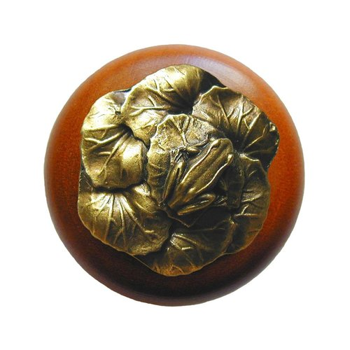 Notting Hill All Creatures 1-1/2 Inch Diameter Antique Brass Cabinet Knob NHW-709C-AB
