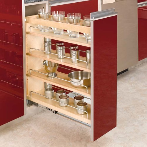 "Rev-A-Shelf Rev A Shelf 3 Tier Frameless Organizer 6.5""-Wood 448-BC-6C"