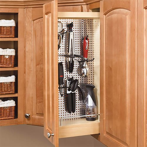 Rev-A-Shelf 444 Wall Cabinet with Stainless Steel Panel 5 inch - Wood 444-WC-5SS