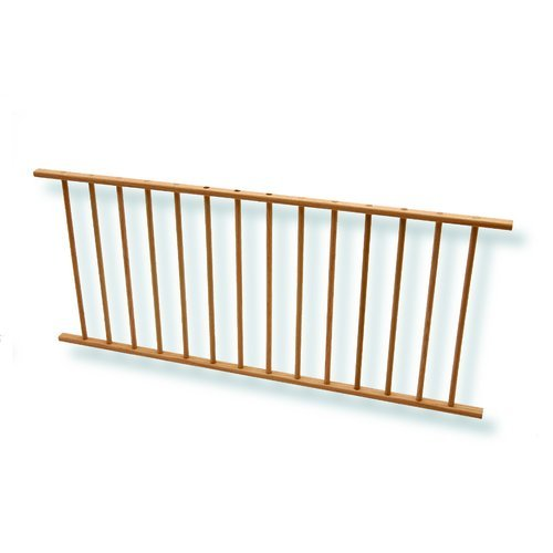 Omega National Products Plate Display Rack 36 inch Hickory NPD-36-HI