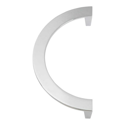 Roundabout 5-1/16 Inch Center to Center Polished Chrome Cabinet Pull <small>(#355-CH)</small>