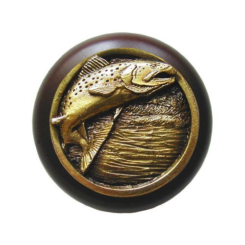 Notting Hill Great Outdoors 1-1/2 Inch Diameter Antique Brass Cabinet Knob NHW-708W-AB