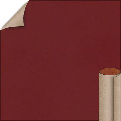 Nevamar Burgundy Textured Finish 4 ft. x 8 ft. Countertop Grade Laminate Sheet S1015T-T-H5-48X096