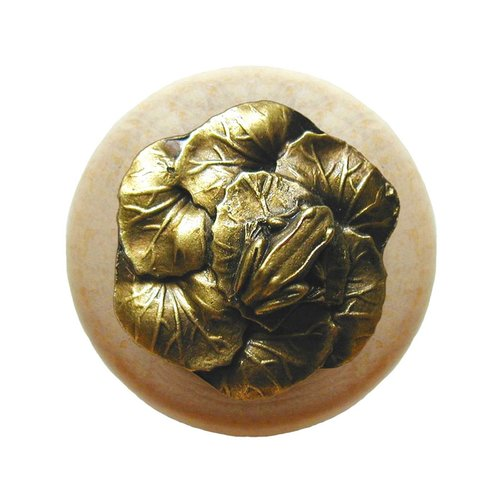 Notting Hill All Creatures 1-1/2 Inch Diameter Antique Brass Cabinet Knob NHW-709N-AB