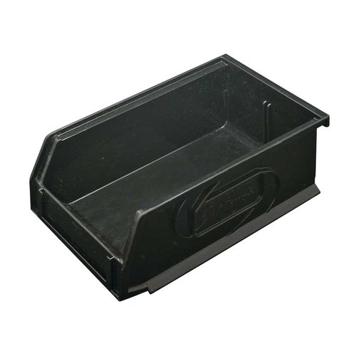 "Hafele Omni Track Storage Bin 4-1/4"" X 7-1/4"" X 3"" Black Plastic 792.02.381"