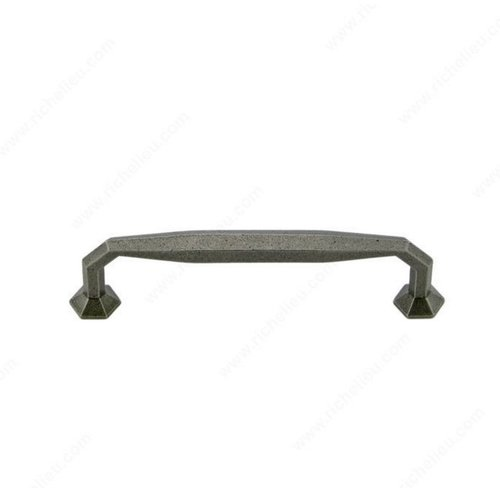 Richelieu Traditional Cast Iron 5-1/16 Inch Center to Center Natural Iron Cabinet Pull 3887128908