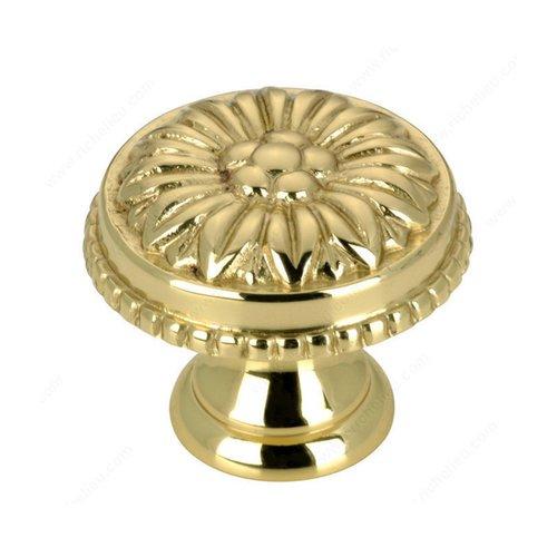 Richelieu Louis XV 1 Inch Diameter Brass Cabinet Knob BP04325130
