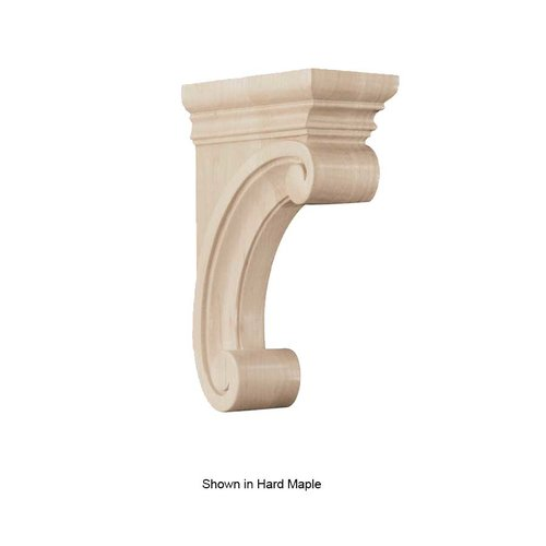 Brown Wood Medium Madeline Corbel Unfinished Alder 01607215AL1