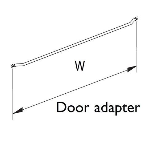 """Vauth Sagel Spice Rack Door Adapter 13-1/4"""" W Silver 9100 0503"""