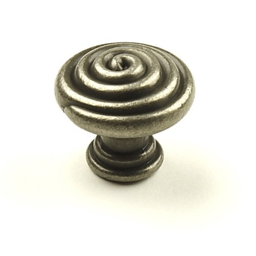 Omega 1-3/8 Inch Diameter Aged Pewter Cabinet Knob <small>(#20907-AP)</small>