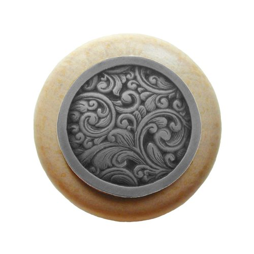 Notting Hill Classic 1-1/2 Inch Diameter Antique Pewter Cabinet Knob NHW-759N-AP