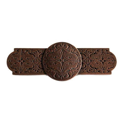 Olde World 3 Inch Center to Center Antique Copper Cabinet Pull <small>(#NHP-673-AC)</small>