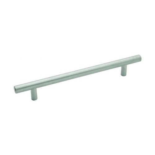 Metropolis 6-5/16 Inch Center to Center Pearl Nickel Cabinet Pull <small>(#PA0226-PN)</small>
