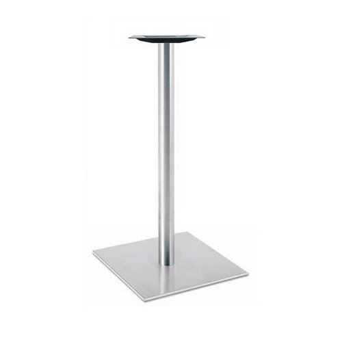 "Peter Meier 17"" Square Table Base - Stainless Steel 40-3/8"" H 5017-43-SS"