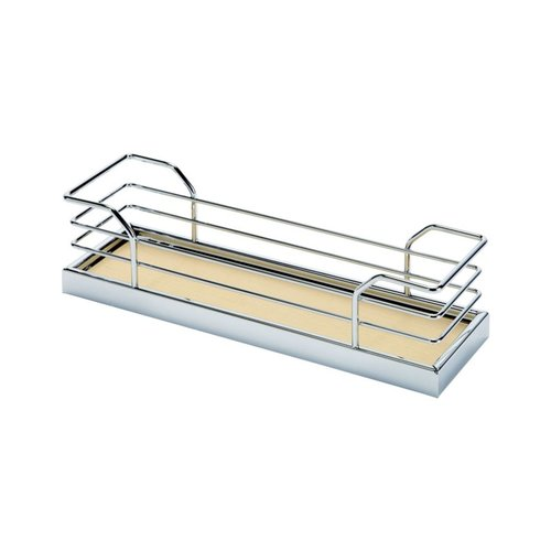 "Kessebohmer 2 Tray Spice Rack Set 3"" W Chrome/Maple 543.34.151"