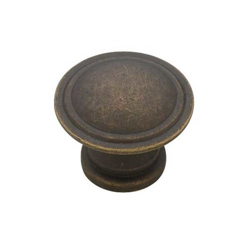 Liberty Hardware Modern Cable 1-3/16 Inch Diameter Distressed Oil Rubbed Bronze Cabinet Knob PN0408-OB-C