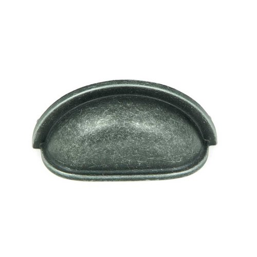 Stone Mill Hardware Princeton 3 Inch Center to Center Swedish Iron Cabinet Cup Pull CP1499-SI