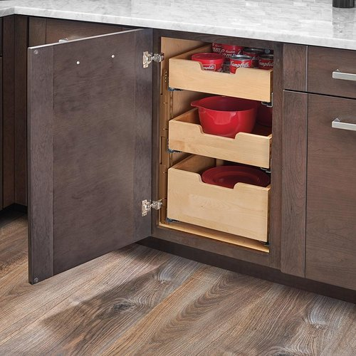 "Rev-A-Shelf Pilaster Three Drawer Kit For 24"" Door/Drawer Cabinet 4PIL-24SC-3"