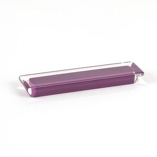 R. Christensen Core 3-3/4 Inch Center to Center Purple Transparent Cabinet Pull 9760-7000-P