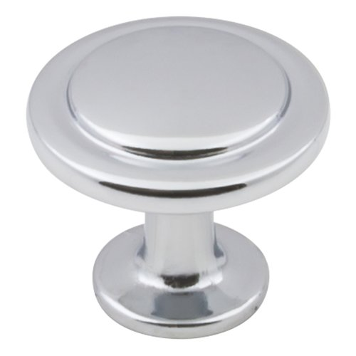 """Elements by Hardware Resources Gatsby Cabinet Knob 1-1/4"""" Dia Polished Chrome 3960-PC"""