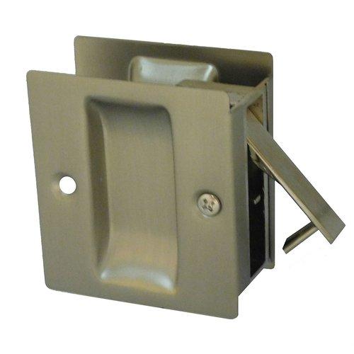 """Don-Jo Pocket Door Lock Passage 2-1/2"""" X 2-3/4"""" Satin Nickel PDL-100-619"""