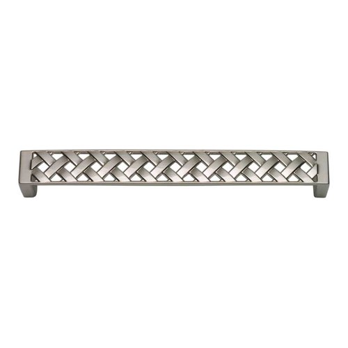Atlas Homewares Lattice 6-5/16 Inch Center to Center Brushed Nickel Cabinet Pull 312-BRN