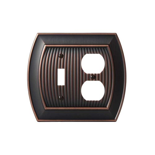 Amerock Allison One Toggle, 1 Receptacle Wall Plate Oil Rubbed Bronze BP36538ORB