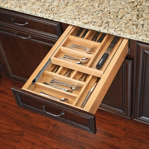 """Rev-A-Shelf Tiered Double Cutlery Drawer For 18"""" Cabinet 4WTCD-21-1"""