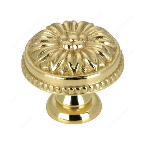 Richelieu Louis XV 1-3/16 Inch Diameter Brass Cabinet Knob BP04330130