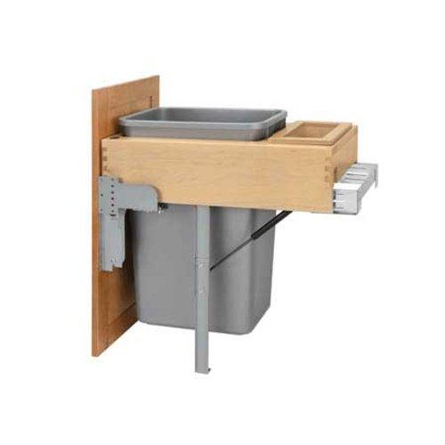 Rev-A-Shelf Single Trash Pullout 50 Quart-Wood 4WCTM-RM-1850DM-1