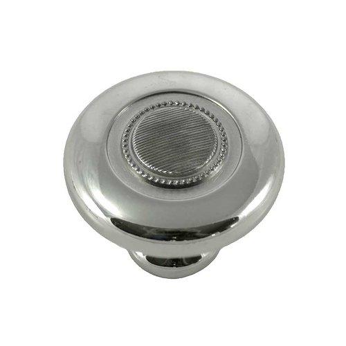 MNG Hardware Vanilla 1-1/2 Inch Diameter Polished Nickel Cabinet Knob 16814