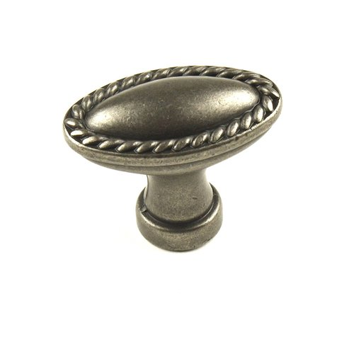 Hawthorne 1-3/8 Inch Diameter Antique Pewter Cabinet Knob <small>(#22307-AP)</small>