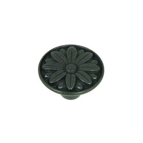 Stone Mill Hardware Cornell 1-1/4 Inch Diameter Antique Black Cabinet Knob CP81521-BA