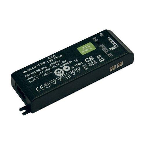 Hafele Loox 24V LED Driver - .05-15 Watts 833.77.900