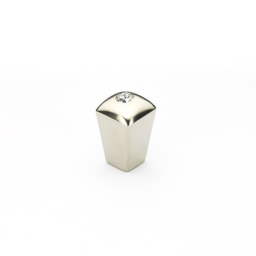 Schaub and Company Skyevale 1/2 Inch Diameter Satin Nickel w/ Crystal Cabinet Knob 299-15