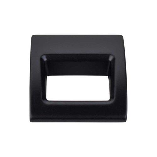 Top Knobs Mercer 1-1/8 Inch Length Flat Black Finger Pull TK615BLK
